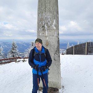 MUDr.Svatopluk Kunčar na vrcholu Lysá hora (6.3.2021 13:39)