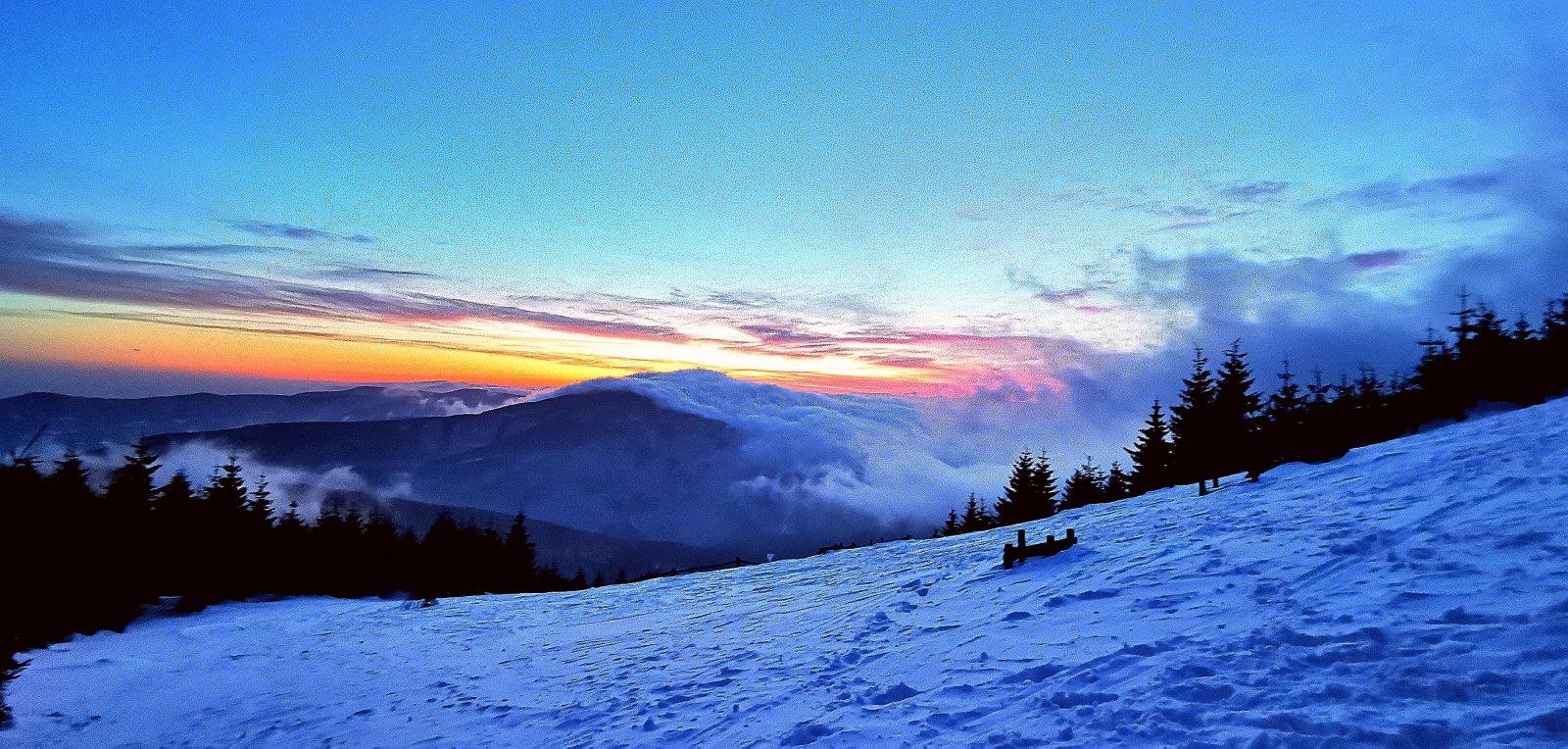 Jiří Nesit na vrcholu Lysá hora (10.2.2019 6:50)