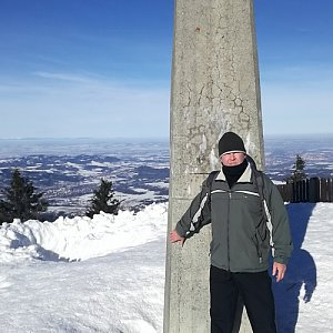 Jan na vrcholu Lysá hora (7.2.2019 10:50)