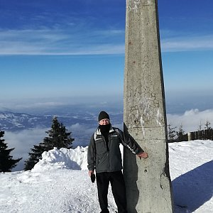Jan na vrcholu Lysá hora (8.2.2019 13:20)