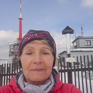 MUDr.Svatopluk Kunčar na vrcholu Lysá hora (9.3.2021 13:39)