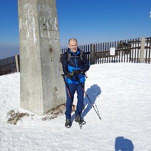 MUDr.Svatopluk Kunčar na vrcholu Lysá hora (10.3.2021 13:34)
