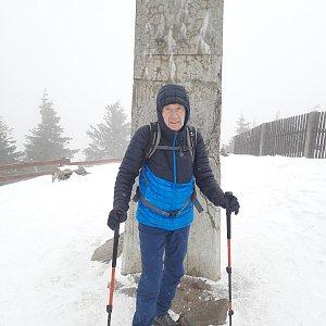 MUDr.Svatopluk Kunčar na vrcholu Lysá hora (13.3.2021 13:30)
