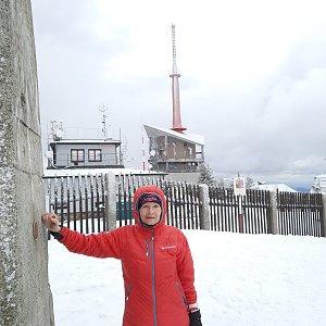 MUDr.Svatopluk Kunčar na vrcholu Lysá hora (14.3.2021 13:36)