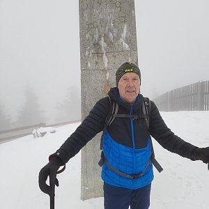 MUDr.Svatopluk Kunčar na vrcholu Lysá hora (16.3.2021 13:55)
