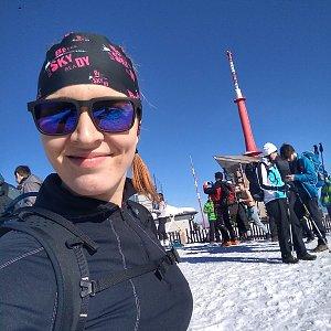 marenecka na vrcholu Lysá hora (17.2.2019 20:41)