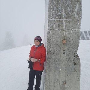 MUDr.Svatopluk Kunčar na vrcholu Lysá hora (24.3.2021 12:55)