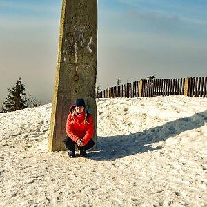 Jiřka Niedobová na vrcholu Lysá hora (25.3.2021 15:08)