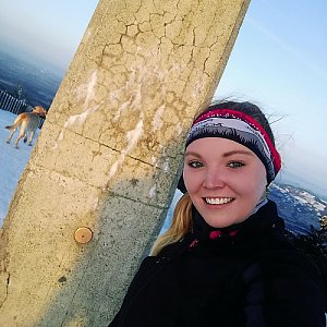 JustTey na vrcholu Lysá hora (16.2.2019 7:05)