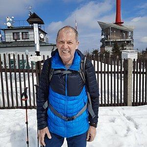 MUDr.Svatopluk Kunčar na vrcholu Lysá hora (30.3.2021 12:54)