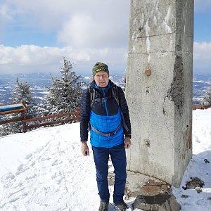 MUDr.Svatopluk Kunčar na vrcholu Lysá hora (6.4.2021 13:24)