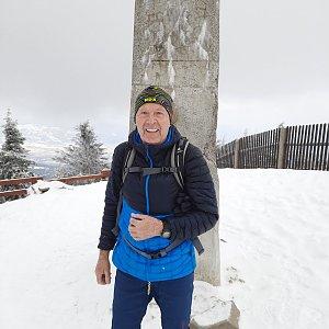 MUDr.Svatopluk Kunčar na vrcholu Lysá hora (7.4.2021 11:26)
