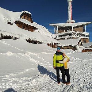 Jaros Ondra na vrcholu Lysá hora (19.1.2019 10:35)