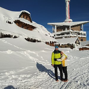 Jaromír Ondra na vrcholu Lysá hora (19.1.2019 10:35)