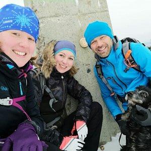 Simona na vrcholu Lysá hora (24.2.2019 9:30)