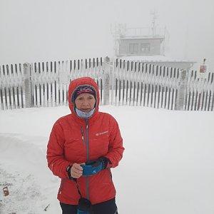 MUDr.Svatopluk Kunčar na vrcholu Lysá hora (13.4.2021 16:48)