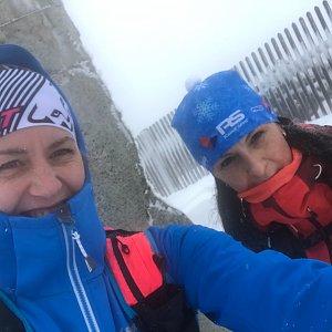 Dominika Turčeková na vrcholu Lysá hora (13.4.2021 15:15)