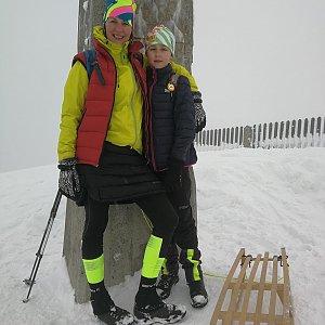 Petra Kosarkova na vrcholu Lysá hora (16.4.2021 18:12)