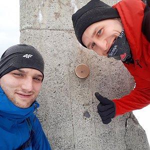 MartinMoli na vrcholu Lysá hora (2.3.2019 9:25)