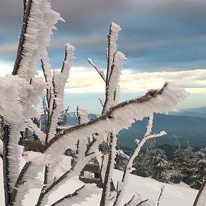 Jiří Nesit na vrcholu Lysá hora (3.3.2019 6:44)