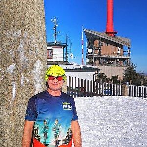 Jiří Nesit na vrcholu Lysá hora (6.3.2019 15:05)