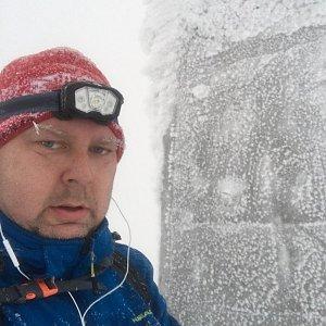 Karel Myslikovjan na vrcholu Lysá hora (13.1.2019 7:51)