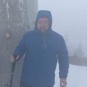 Karel Myslikovjan na vrcholu Lysá hora (17.1.2019 8:17)