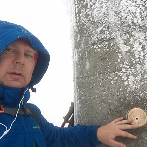 Karel Myslikovjan na vrcholu Lysá hora (29.1.2019 8:16)