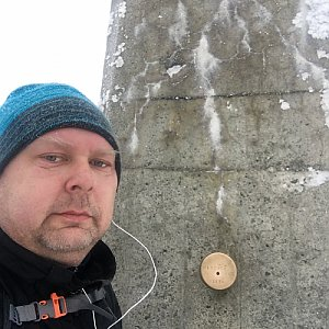 Karel Myslikovjan na vrcholu Lysá hora (13.2.2019 7:50)
