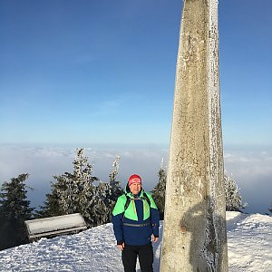 Karel Myslikovjan na vrcholu Lysá hora (27.2.2019 7:46)