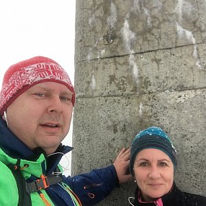 Karel Myslikovjan na vrcholu Lysá hora (1.3.2019 10:00)