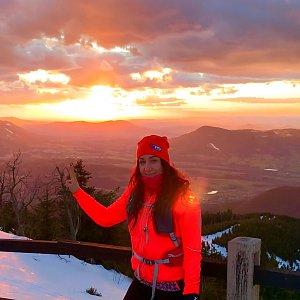 Pavlaja na vrcholu Lysá hora (8.3.2019 17:32)