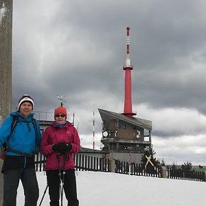 MUDr.Svatopluk Kunčar na vrcholu Lysá hora (9.3.2019 10:39)
