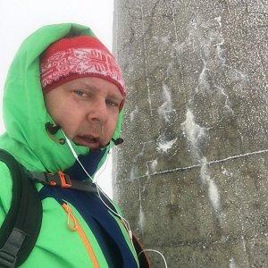 Karel Myslikovjan na vrcholu Lysá hora (15.3.2019 9:18)