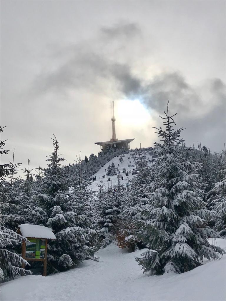 Barbora Dreslerová na vrcholu Lysá hora (3.2.2018 10:29)