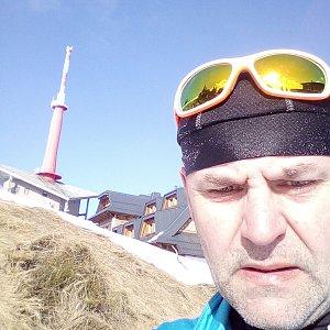 Li Be na vrcholu Lysá hora (27.3.2019 15:47)