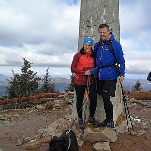 Kateřina Turčeková na vrcholu Lysá hora (8.5.2021 8:00)