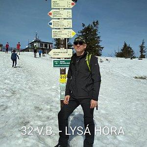 Aleš Sýkora na vrcholu Lysá hora (30.3.2019 11:20)