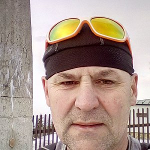 Li Be na vrcholu Lysá hora (3.4.2019 17:32)