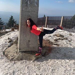 Pavlaja na vrcholu Lysá hora (7.4.2019 19:42)