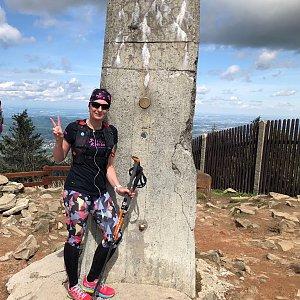 Kateřina Turčeková na vrcholu Lysá hora (21.5.2021 11:00)