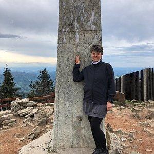 Radka Dubská na vrcholu Lysá hora (21.5.2021 17:11)
