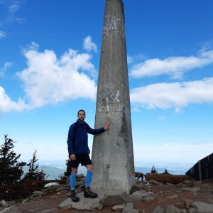 Filip Šimon na vrcholu Lysá hora (26.5.2021 9:19)
