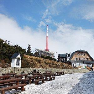 Jakub Kaleta na vrcholu Lysá hora (14.4.2019 12:38)
