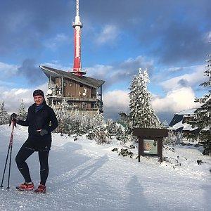 Karin Fuková na vrcholu Lysá hora (8.3.2018 16:17)