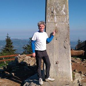 Jaroslav Macura na vrcholu Lysá hora (6.6.2021 7:53)