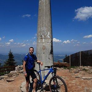 Filip Šimon na vrcholu Lysá hora (7.6.2021 11:28)
