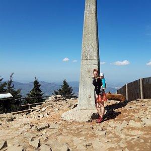 Su Mischelle na vrcholu Lysá hora (25.4.2019 12:30)