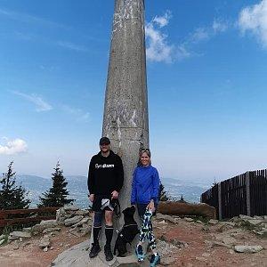 Tomáš Mucha na vrcholu Lysá hora (3.6.2021 10:00)