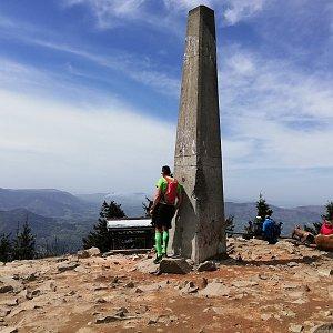 Martin Vlček na vrcholu Lysá hora (26.4.2019 12:41)